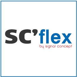 sc'flex, balises auto par signal concept