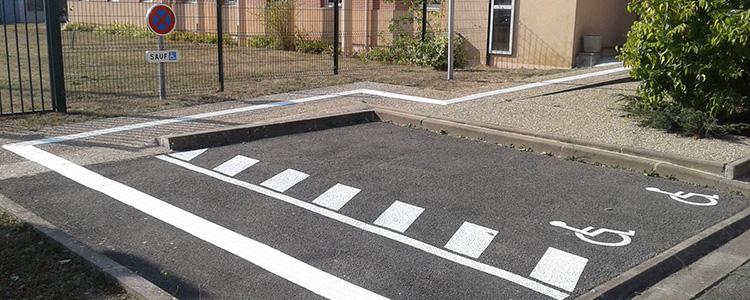 Accessibilité P.M.R. à la gendarmerie de Pithiviers