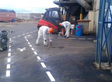Marquage au sol pour la STCM