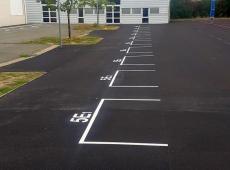 Nous avons crée les nouvelles zones de rassemblement des classes afin que la rentrée se passe correctement pour tous les élèves et professeurs.